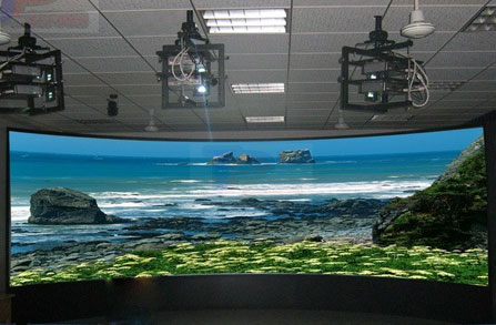 3 D projection screen